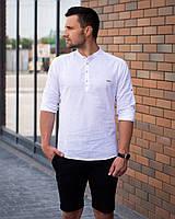 Рубашка мужская Саммари.Стильная мужская рубашка белого цвета. Топ качество!!!