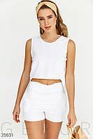 Элегантный открытый костюм белого цвета S M L