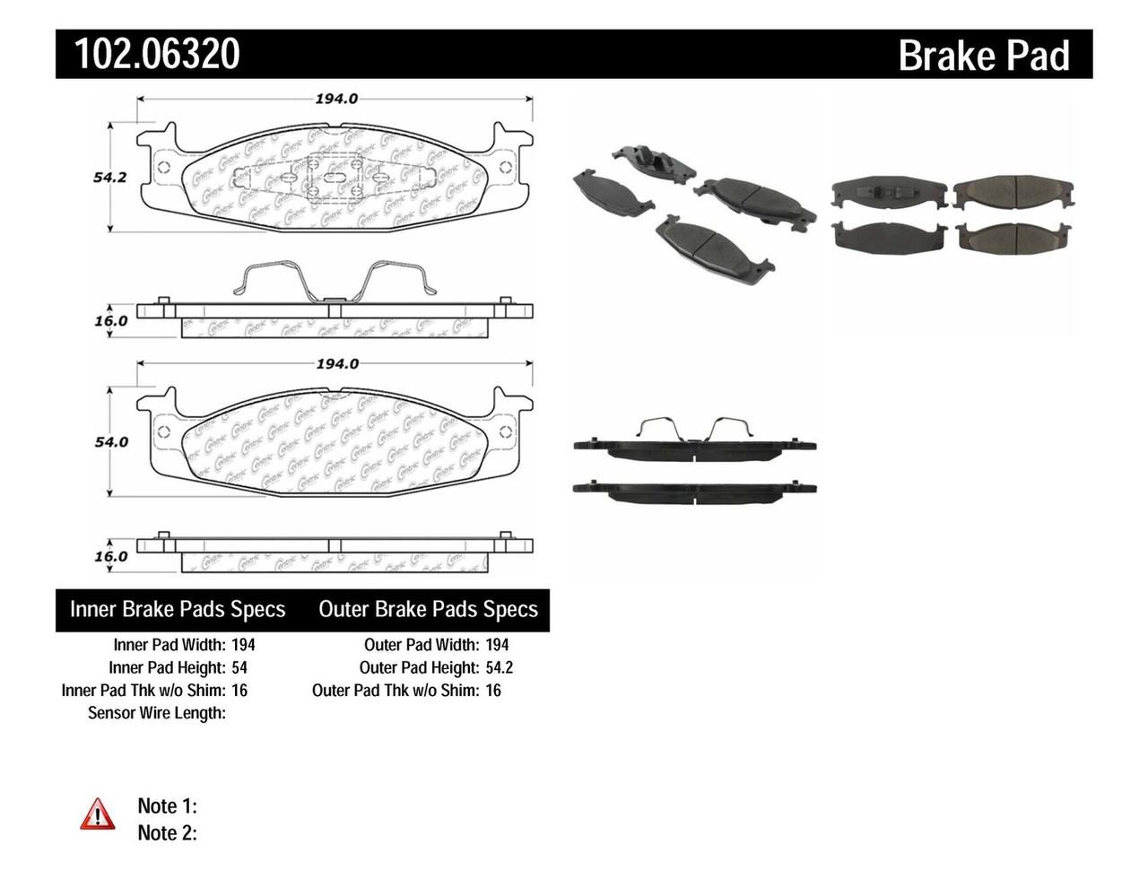 Колодки тормозные передние CENTRIC PARTS 10206320