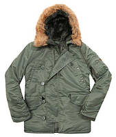 Куртка Alpha Industries Alpha N-3B Parka XXL Sage Green, КОД: 1313196