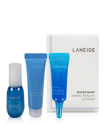 Набор мини версий увлажняющий Laneige Water Bank Hydro Kit (essence/10ml+cr/10ml+eye/gel/3ml), фото 2