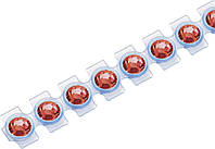 Кристаллы Сваровски Swarovski Elements Knorr Prandell для текстиля на ленте SS10  2.8 мм Красный, КОД: 1538826