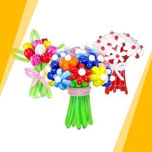 Букеты из воздушных шаров, цветы из воздушных шаров