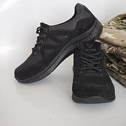 Кроссовки тактические сетка Армос чёрные размер 40-46