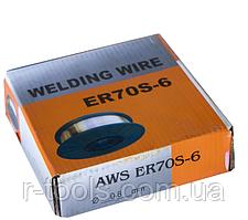 Проволока сварочная омедненная AWS ER70S-6 0,8мм 4.5кг