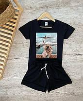 Крутой летний костюм шорты и футболка с рисунком 2021, фото 2