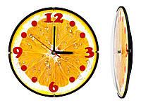 Часы настенные Montre Апельсин 24х24х4 см Стекло Тихий ход 21603, КОД: 1334071