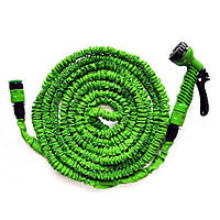 Шланг для полива X HOSE 60 м с распылителем, садовый шланг, поливочный шланг для сада Зелёный