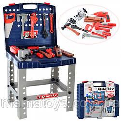 Детский Игровой набор инструментов 008-21 Столик верстак в чемодане