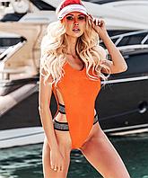Купальник сдельный женский Lux4ika S Оранжевый nr1-291, КОД: 1256068