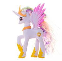 Пони 14 см. My Little Pony Мой маленький пони Селестия Игрушка для девочек Единорог, фото 1