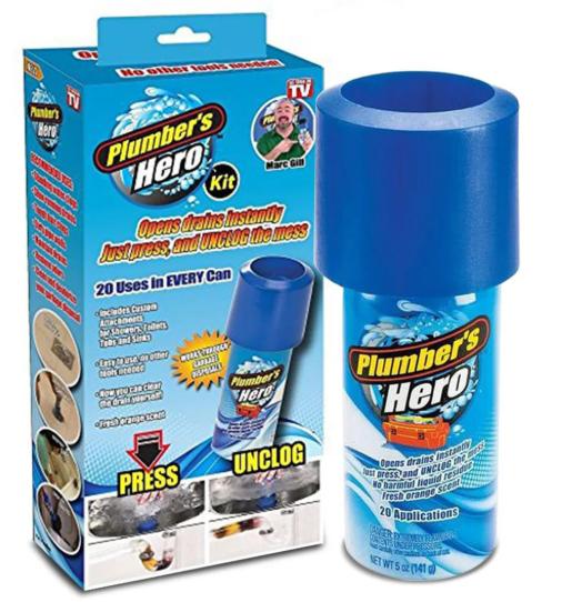 Вантуз Plumber's Hero для прочистки канализационных труб