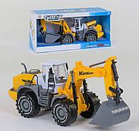 Инерционный Экскаватор Small Toys 9998-21 Желтый 2-63182, КОД: 1295665