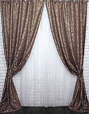 """Комплект готовых штор из ткани лён """"Вензель"""" Код 535ш 1,5*2,70 30-288, фото 2"""