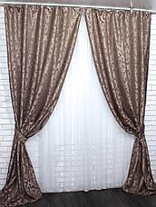 """Комплект готовых штор из ткани лён """"Вензель"""" Код 535ш 1,5*2,70 30-288, фото 3"""
