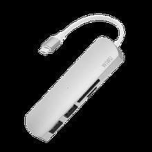 USB-хаб адаптер WIWU 4 in 1 Adapter T2 USB-C to microSD + SD + 2 x USB 3.0 Серый hubQbiI54485, КОД: 1494924