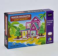 Детский магнитный конструктор Magic Magnetic Пляжный домик JH 8815 38 деталей Разноцветный 2-JH88, КОД: 1077873