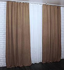 """Комплект готовых микровельветовых штор """"HAVANA"""",(2шт. 1,5х2,70м.) цвет горчичный. Код 493ш 30-243, фото 3"""