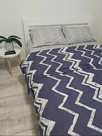 Комплект постельного белья из Бязи (размер Евро стандарт - синего цвета)