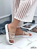 Женские шлепанцы шлепки Super Girl, резиновые, верх прозрачный матовый с надписью, фото 8