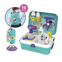 """Детский игровой набор """"Парикмахерская для животных"""", в чемоданчике с собачкой"""