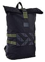 Рюкзак міський YES Roll-top T-70 14 л Navigator Black 557240, КОД: 1252095