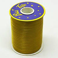 Косая бейка Super 3152 атласная 1.5 см х 100 м Золотистая Bios-3152, КОД: 1314938