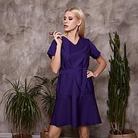 Модное медицинское платье фиолетовое Р 57