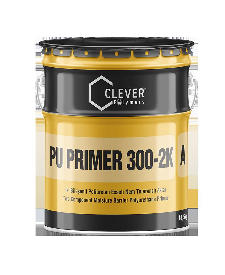 Двухкомпонентная влагостойкая полиуретановая грунтовка Clever PU Primer 300-2K 4 кг