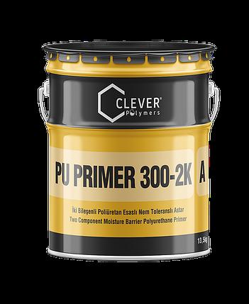 Двухкомпонентная влагостойкая полиуретановая грунтовка Clever PU Primer 300-2K 4 кг, фото 2
