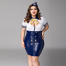 Соблазнительный костюм стюардессы JSY XL XXL Синий brtJSY-P71110, КОД: 1464249