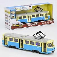 Инерционная машинка Play Smart Трамвай 9708 С Желто-голубая 2-9708С-54019, КОД: 317256