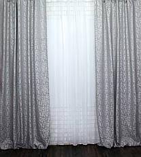 """Комплект готовых штор из ткани лён """"Вензель""""Код 538ш, фото 2"""