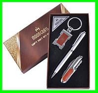 Подарочный Набор 3 в 1 (нож, ручка, брелок Герб Украины), фото 1