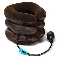 Надувная подушка для шеи Adenki ортопедический воротник 30 см Коричневый 46-891715219, КОД: 1383284