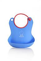 Силіконовий фартух для годування, блакитний - Babyhood BH-401В, фото 1