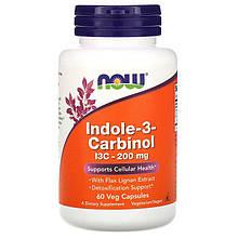 """Индол-3-карбинол NOW Foods """"Indole-3-Carbinol"""" для здоровья репродуктивной системы, 200 мг (60 капсул)"""