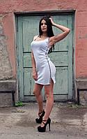Женское летнее платье светло-серого цвета с лампасами