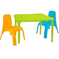 Детский стол для творчества + 2 стула Разноцветные 18-100-15, КОД: 1130268