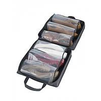 Органайзер для обуви Shoe Tote Bag Pro сумка для хранения обуви на 6 пар ЧЁРНАЯ