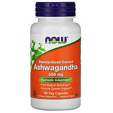 "Ашвагандха NOW Foods ""Ashwagandha"" 450 мг (90 капсул)"