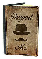Обложка для паспорта DevayS Maker DM 03 Джентельмен Коричневая 01-0103-447, КОД: 1238344