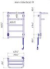 Полотенцесушитель электрический Mario Hotel-I 650х430 + таймер-регулятор, фото 5