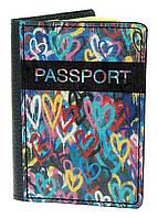 Обложка для паспорта DevayS Maker DM 03 Разноцветные Сердца 01-0103-465, КОД: 1238372