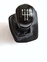 Рукоятка ручка накладка и чехол рычага коробки передач КПП Шкода Октавия А5 Skoda Octavia A5 SkodaMag, фото 1