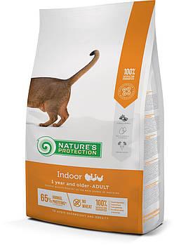 Сухой корм Nature's Protection Indoor для взрослых кошек с домашним образом жизни, от 1 года и старше, 7кг