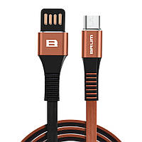 Кабель USB BRUM Strong U002m Micro USB 2.4A 1M Коричневый 047 119 079 13674, КОД: 1705380