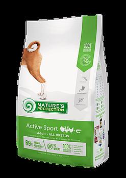 Сухой корм Nature's Protection Active для активных взрослых собак всех пород, 4 кг