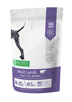 Сухой корм Nature's Protection Adult Lamb для собак всех пород с бараниной, 500 гр