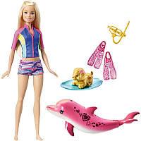 Игровой набор Барби с поющим дельфином из из мультфильма Магия Дельфинов Barbie Dolphin Magic Snorkel Fun Friends SKL52-241097